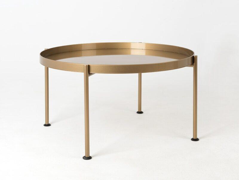 stol kawowy HANNA METAL  F zloty TBHANN  F