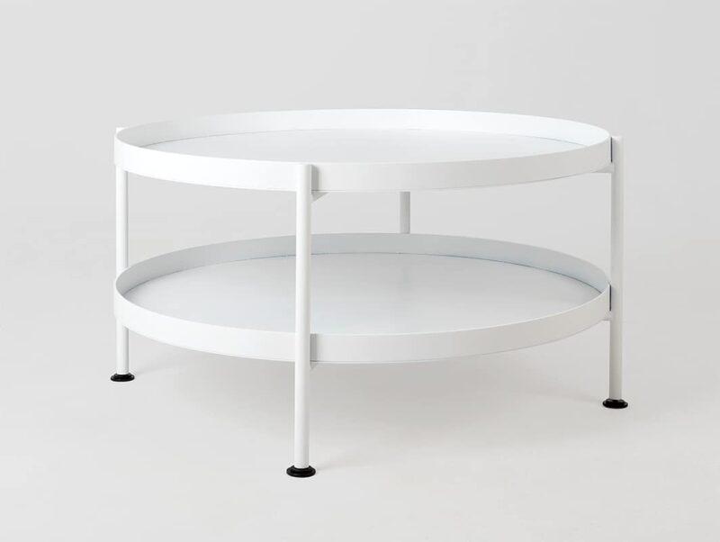 stol kawowy HANNA METAL  F bialy TBHANN  F