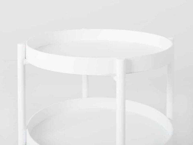 stol kawowy HANNA METAL  F bialy TBHANNSID  F