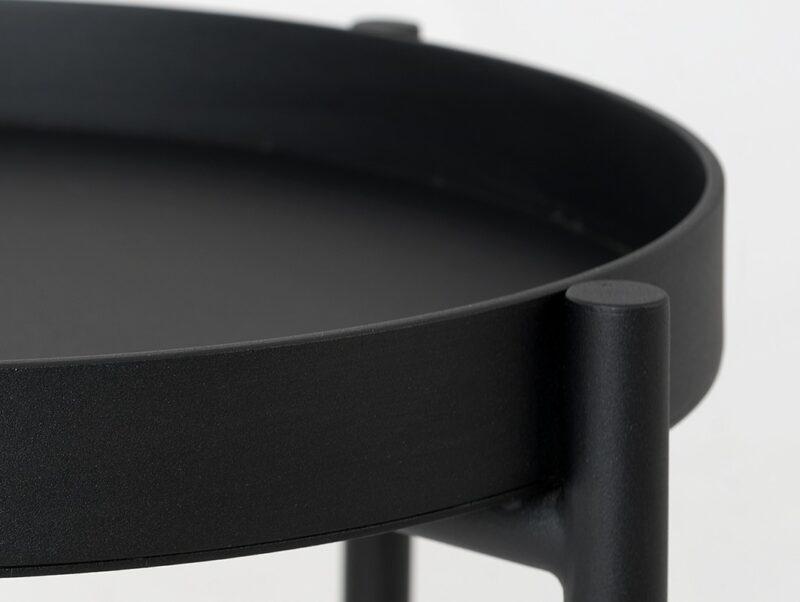 stol kawowy HANNA METAL  F czarny TBHANN  F