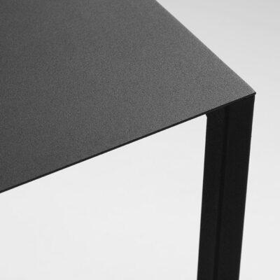 LIPA 60 Beistelltisch aus Stahl, schwarz