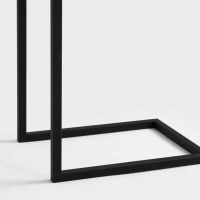 LIPA 30 Beistelltisch aus Stahl, schwarz