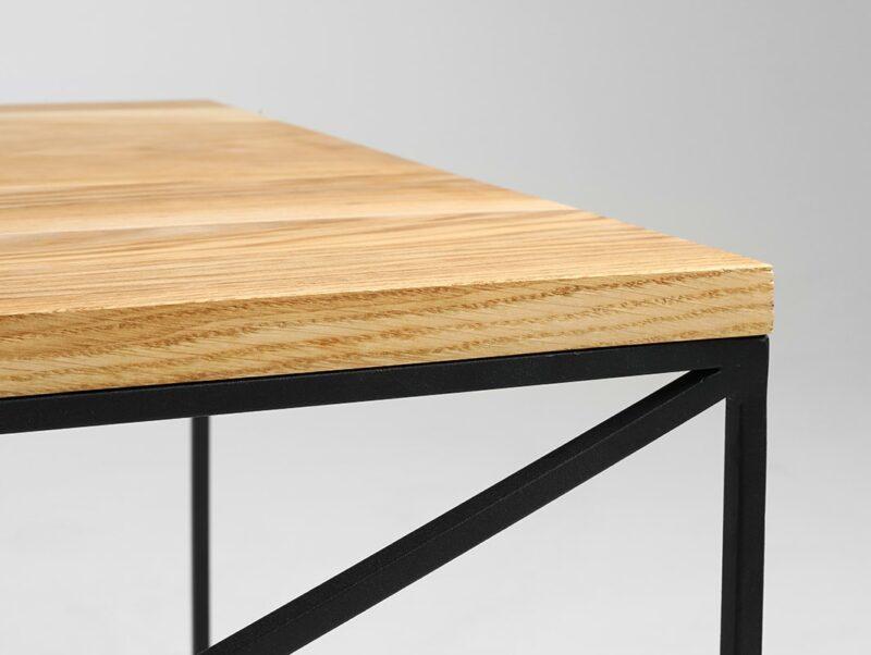 stolik kawowy memo wood   dab czarny TBMEMW