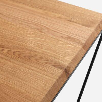 stolik kawowy daryl wood  dab lity gladki czarny TBDAR  N