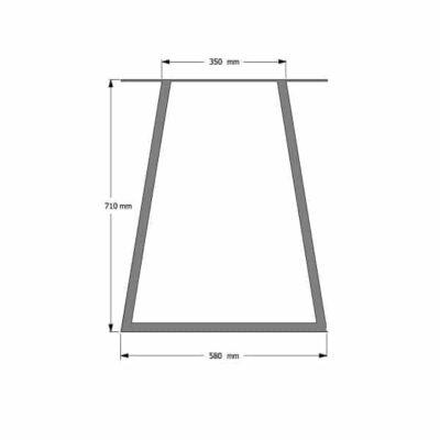 Trapez Tischgestell industrial  cm masse px