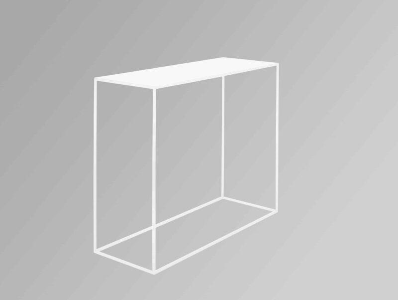 Weißer Konsolentisch Gepetto aus Metall scaled