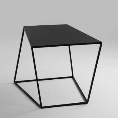 Couchtisch Zigzag 50 schwarz seitliches Bild