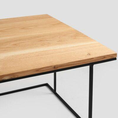 stol kawowy walt wood   dab czarny TBWALTW