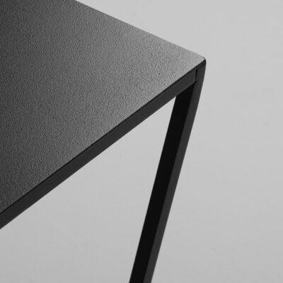 Couchtisch Zigzag 50 schwarz mit Details