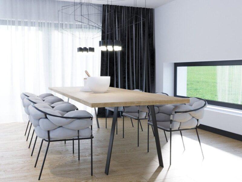 Tischgestell Atlas schwarz mit Dekoration