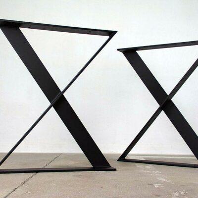Tischgestell X schwarz