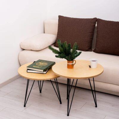 Doppeltisch Obla mit Dekoration