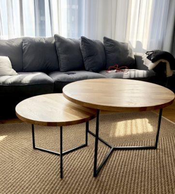 Doppletisch im Wohnzimmer mit Axo Tischkufen - Wohnideen