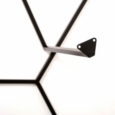 Tischgestell Axo von oben in Details