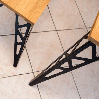 tischgestell toro schwarz mit details