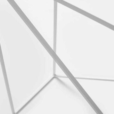 Konsolentisch Slopes aus Metall in Weiß mit Details
