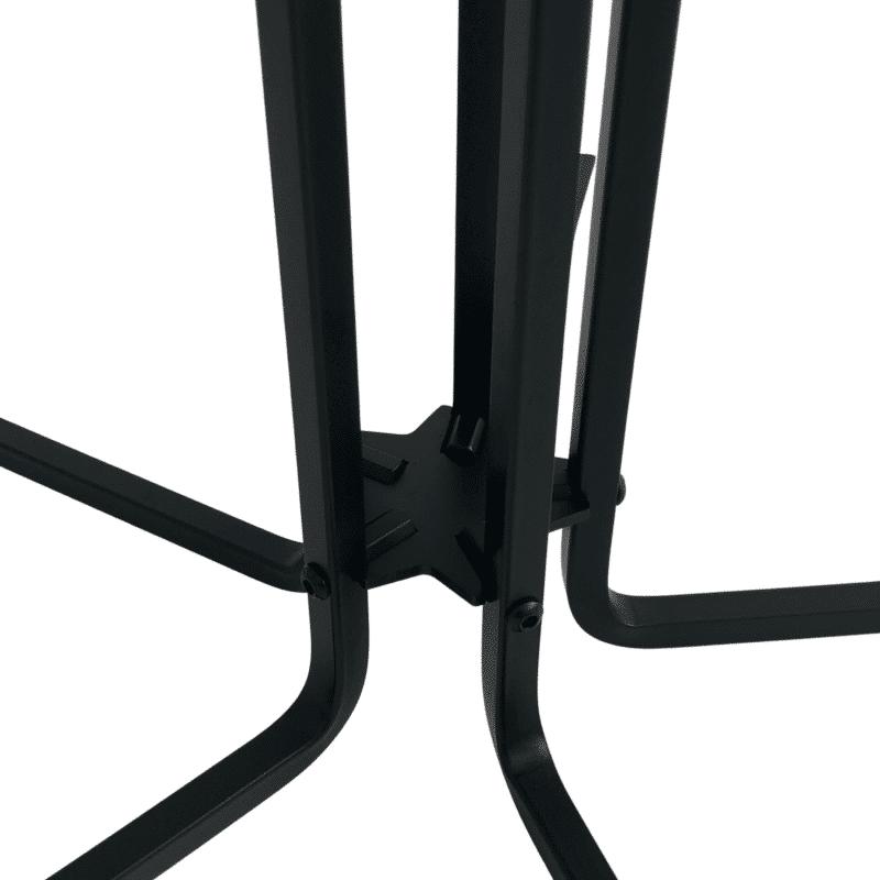 Tischgestell CIRC 72 cm hoch schwarz in Detail