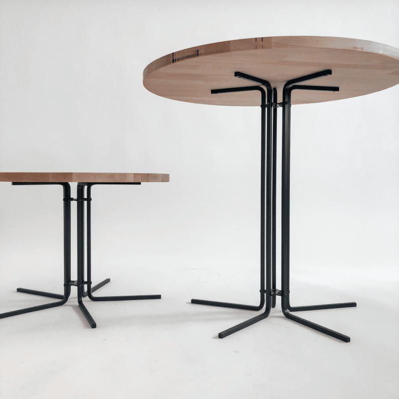 Tischgestell CIRC schwarz mit Platte Eiche