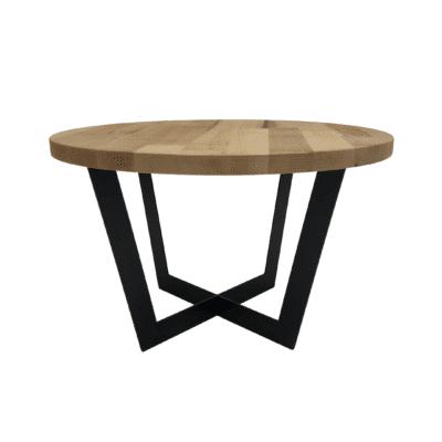 Tischgestell Salto schwarz mit Eichenplatte