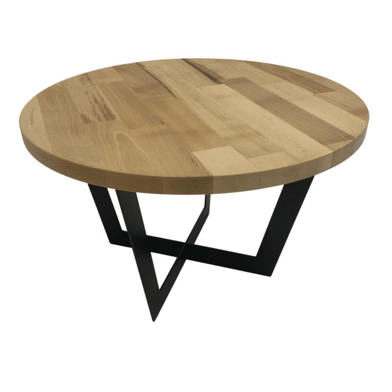 Tischgestell Salto schwarz mit Eichenplatte von oben
