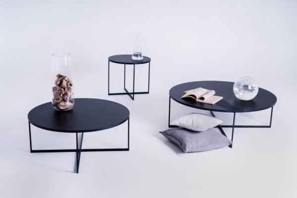 Couchtisch IXO schwarz in Set