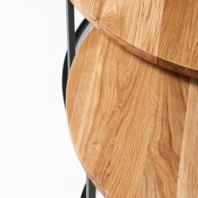 Couchtisch Set Eclipse aus Holz und massiver Eiche