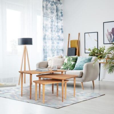 Couchtisch Set Hore im eingerichteten Wohnzimmer