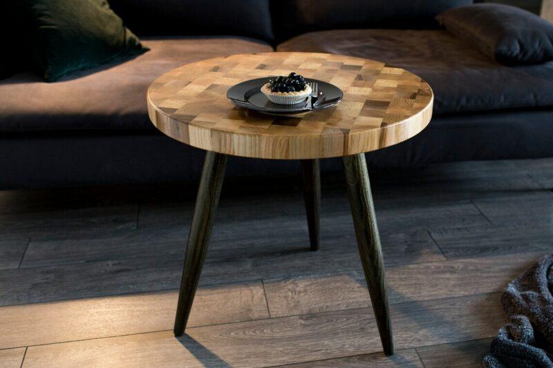 Couchtisch Venus mit drei Tischbeinen aus Holz
