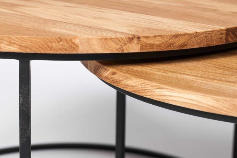 Perfekte Kanten der Tischplatte aus Eiche